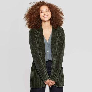 Target Long Sleeve Chenille Open Cardigan Size L
